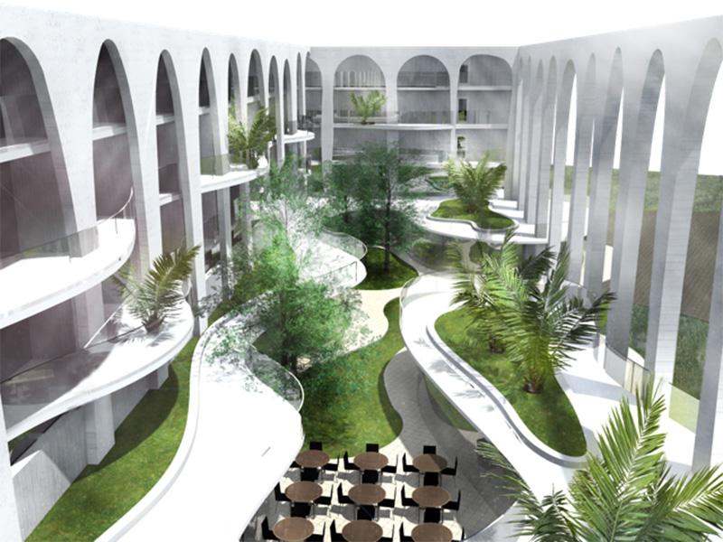 Ciel Rouge Création - Architecture - Actualité - Hôtel centre thermal Kenchla Algérie