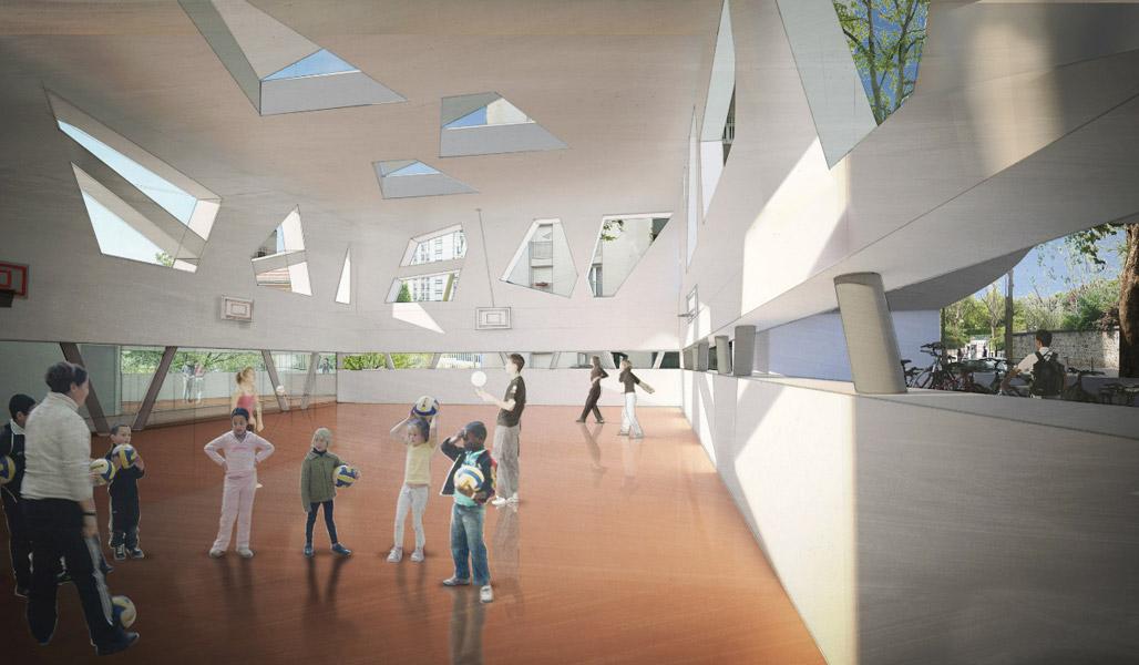 salle de sport pour la ville de paris ciel rouge cr ation. Black Bedroom Furniture Sets. Home Design Ideas