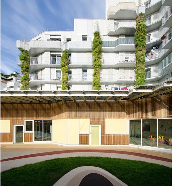 Ciel Rouge création - Architecture - Logements collectifs - Logements sociaux écologiques et paysagers - Croix Nivert - Paris