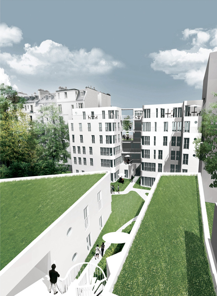 Ciel Rouge Creation - architect Henri Gueydan - Student apartments and social housing