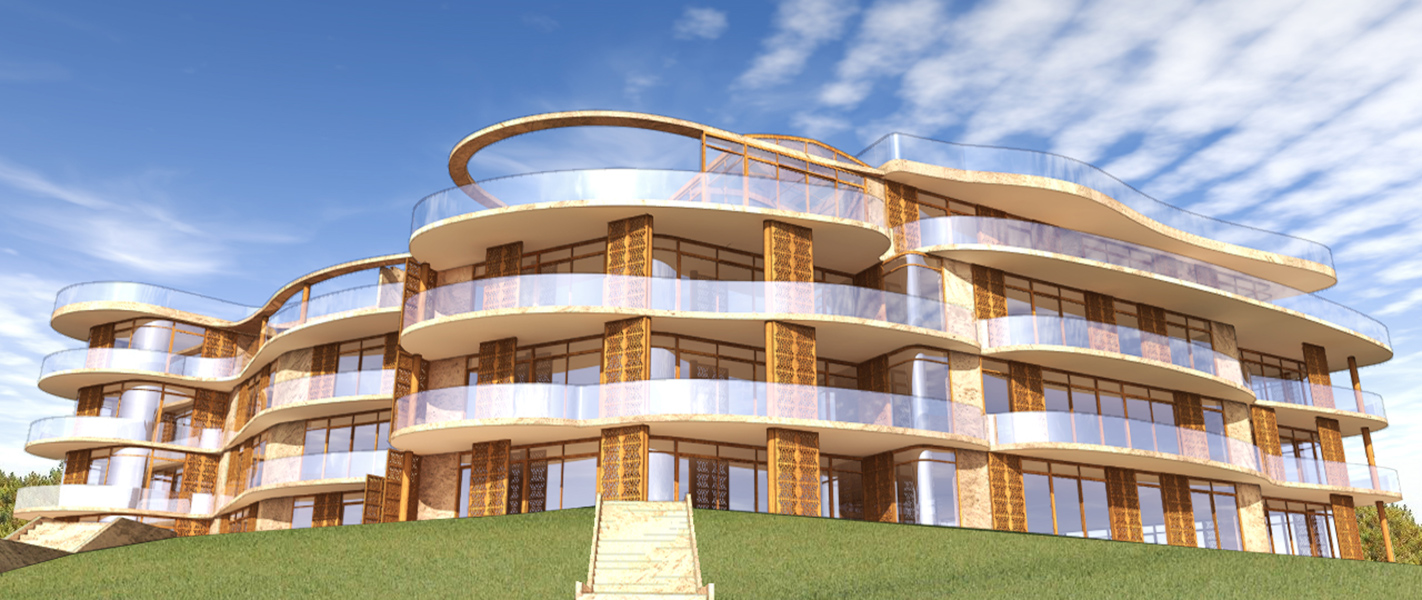 Ciel Rouge Creation - News - Modernity, luxury and nature : appartement building with leisure facility in Jurmala Latvia