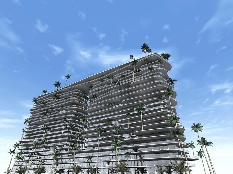 Ciel Rouge Création - Architecture - Projet - Immeuble d'appartements de luxe a Abu Dhabi²