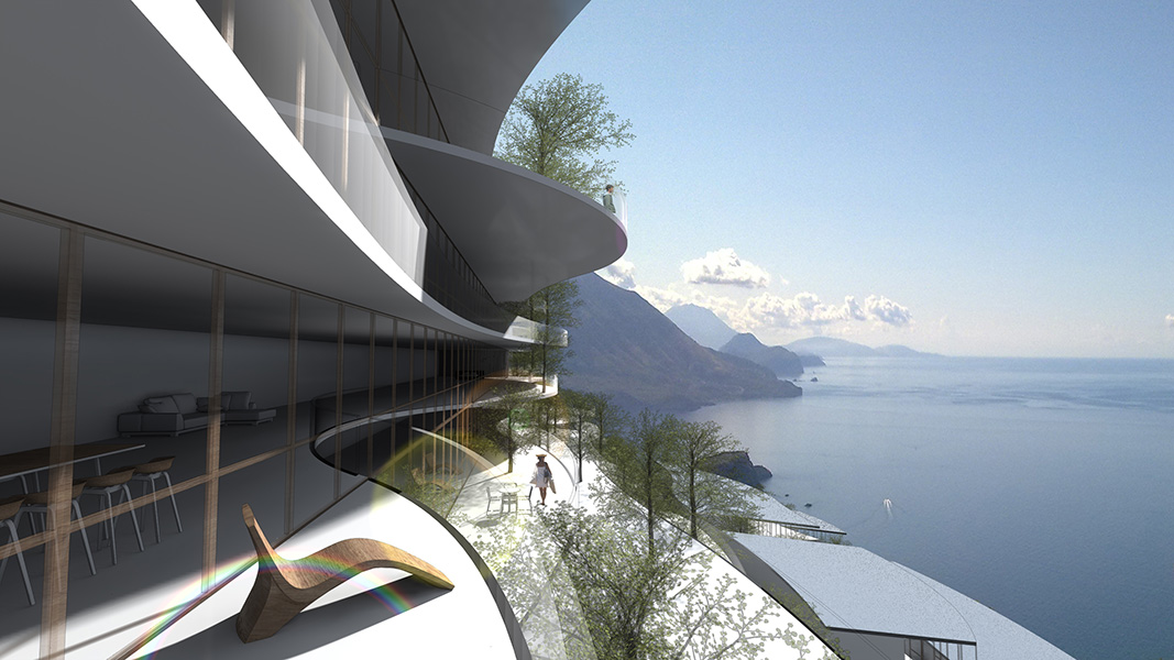 Ciel Rouge Creation - Architecture - Project for an environmental town in Montenegro
