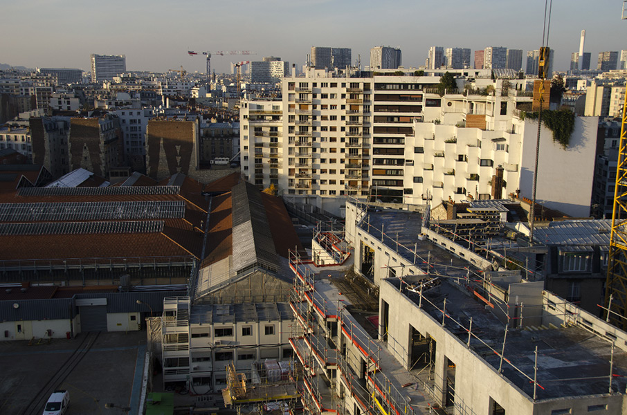 Ciel Rouge création - Architecture - Logements collectifs - Logements sociaux écologiques et paysagers - Travaux - Croix Nivert - Paris