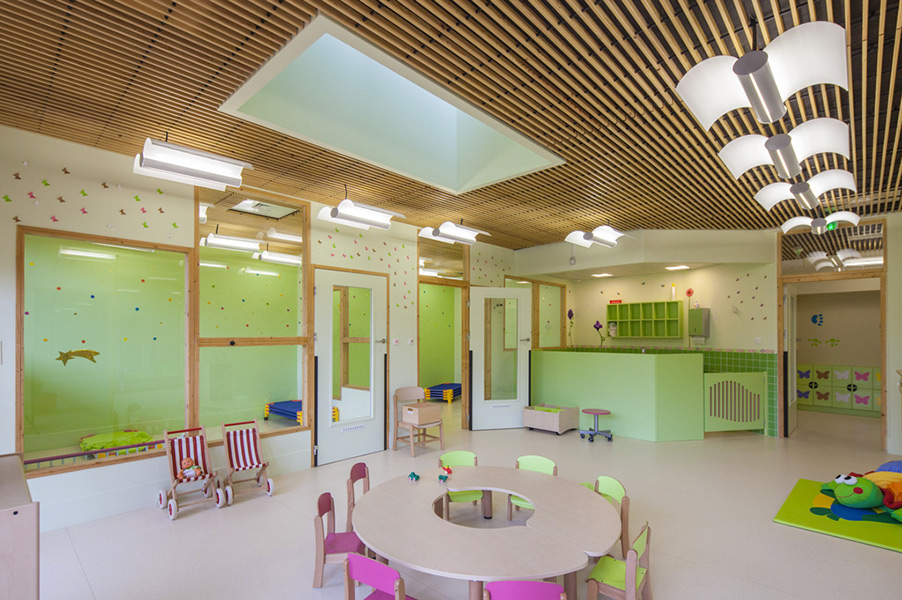 Ciel Rouge creation - Architecture - Facilities and activities - Nursery Croix Nivert - Paris