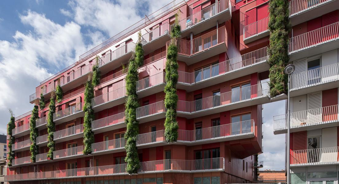 Ciel Rouge Creation - Architecture - Family housing - Social housing Croix Nivert - Paris