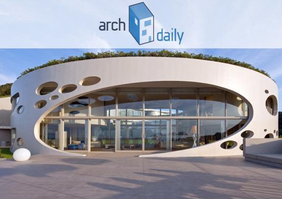 Ciel Rouge Création - Architecture - Henri Geydan - Publication internet sur archdaily.com: Villa ronde bioclimatique à Chiba - Japon